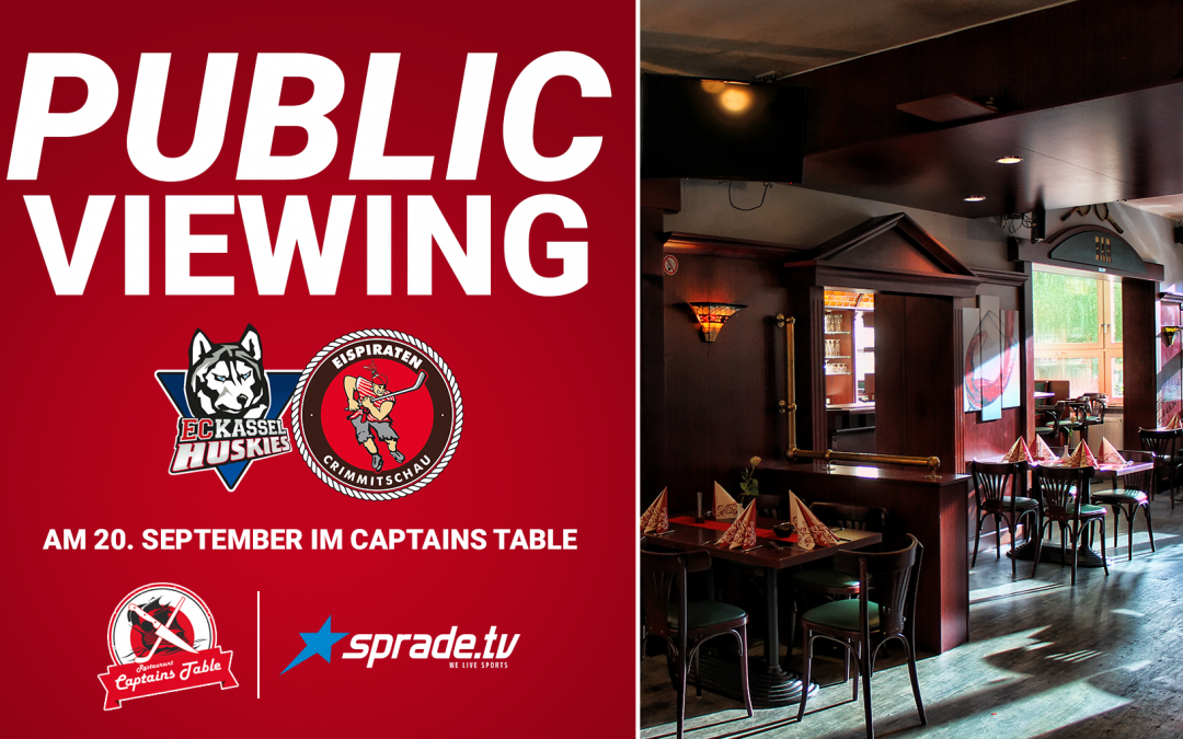Public Viewing im Captains Table